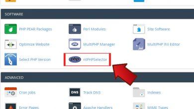 تغییر ورژن PHP در بخش ntPHPSelector سی پنل
