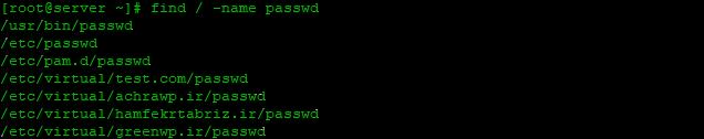 جستجوی فایل ها در لینوکس با دستور Find 2