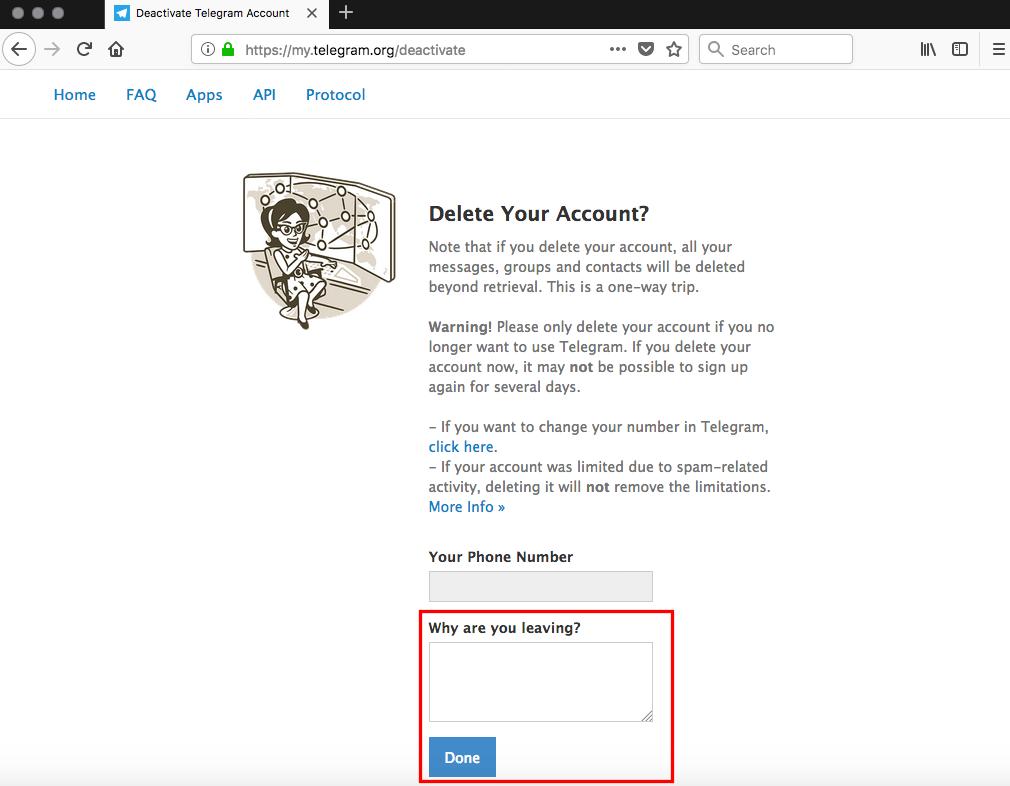 قدم آخر حذف تلگرام