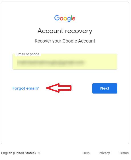 فراموشی رمز عبور ایمیل