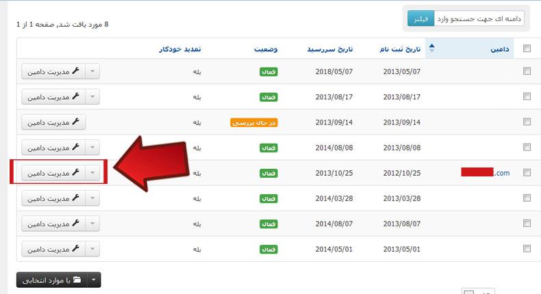 آموزش تغییر DNS دامنه های خارجی 3