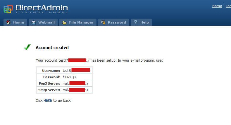 آموزش ساخت اکانت ایمیل در هاست لینوکسDirect Admin 5
