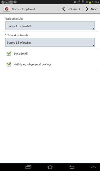 آموزش تنظیم ایمیل در سیستم عامل اندروید 7