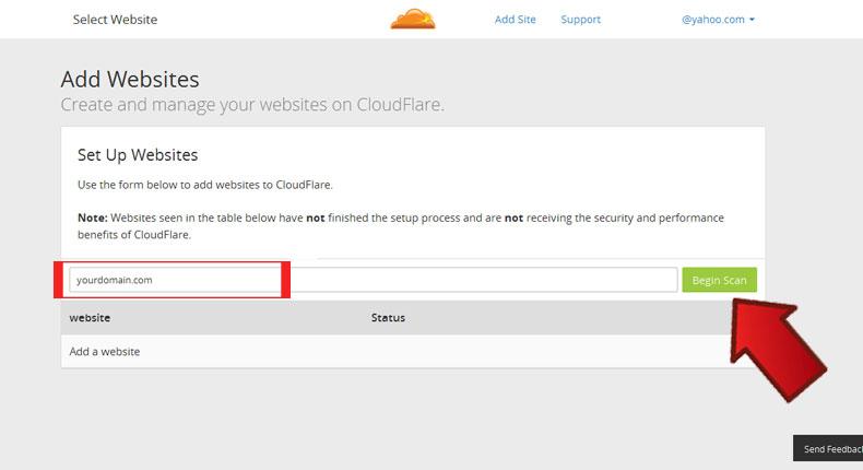 آموزش فعال سازی CloudFlare 5