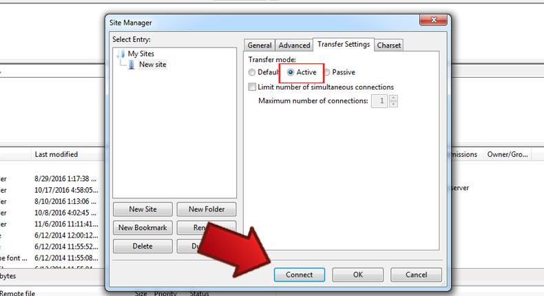 آموزش رفع خطا Failed To retrieve directory listing در Filezilla