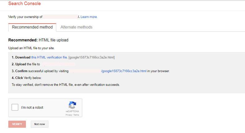 آموزش ثبت سایت در گوگل وبمستر 5