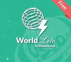 طرح میزبانی وب رایگان با سازنده وب سایت - World Lite 20