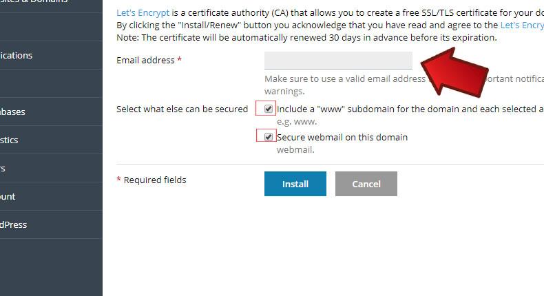 آموزش نصب SSL رایگان در پلسک
