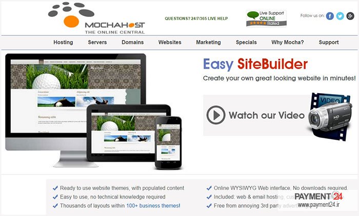 طراحی وب سایت موکاهاست