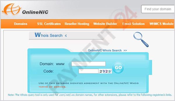ثبت دامنه در سایت آنلاین نیک