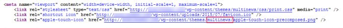 source code-پیدا کردن نام قالب وردپرس