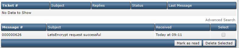 فعالسازی ssl رایگان در Direct Admin 4