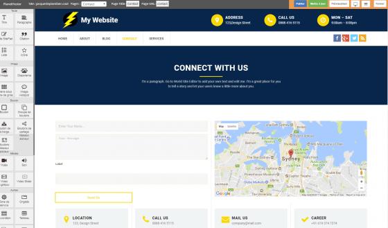 مثال صفحه وب 2 - Sitebuilder PlanetHoster