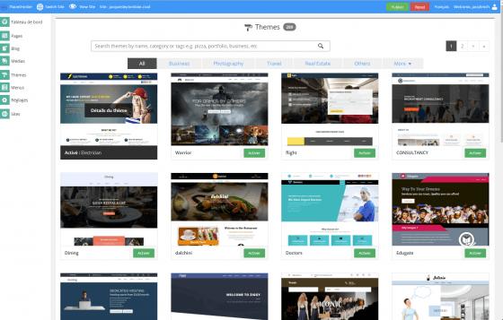 Theme Sitebuilder PlanetHoster