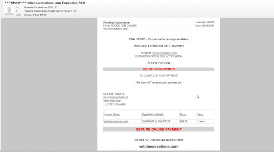 پرداخت امن آنلاین پرداخت تقلب ایمیل