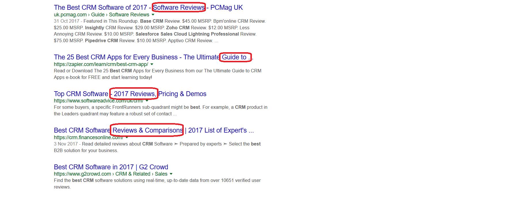 جستجوی بهترین CRM در گوگل