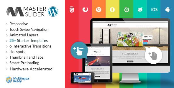 خرید Master Slider - WordPress Responsive Touch Slider