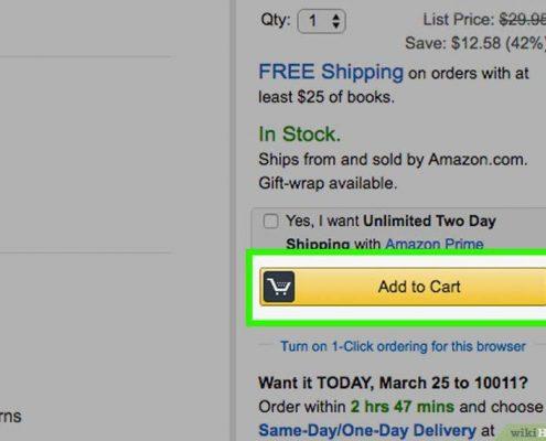 سبد خرید در سایت آمازون amazon