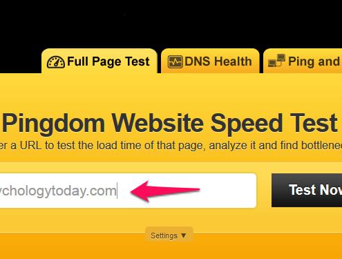 بررسی سرعت سایت pingdom