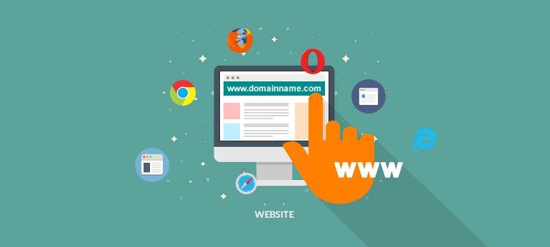 انتخاب نام وب