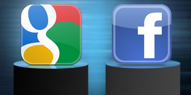 گوگل ، فیس بوک