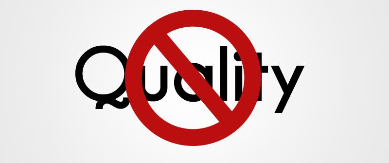 محصول بی کیفیت